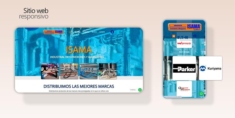 Isama Industrial página web